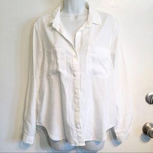 Cloth & Stone Classic White Button Up Shirt
